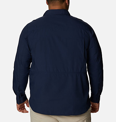 Men's Silver Ridge™ 2.0 Long Sleeve Shirt—Big Silver Ridge™2.0 Long Sleeve Shirt | 449 | 3X, Collegiate Navy, back