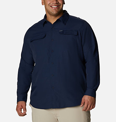 Men's Silver Ridge™ 2.0 Long Sleeve Shirt—Big Silver Ridge™2.0 Long Sleeve Shirt | 449 | 3X, Collegiate Navy, front
