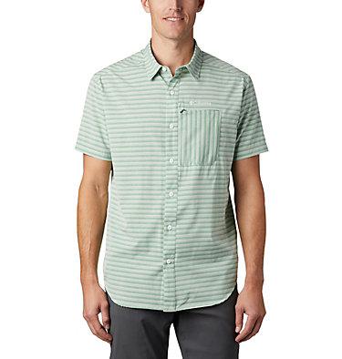 Men's Twisted Creek™ II Short Sleeve Shirt – Big Twisted Creek™ II Short Sleeve Shirt | 362 | 1X, True Green Stripe, front