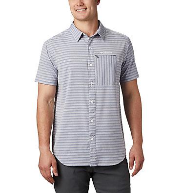 Men's Twisted Creek™ II Short Sleeve Shirt – Big Twisted Creek™ II Short Sleeve Shirt | 362 | 1X, Collegiate Navy Stripe, front