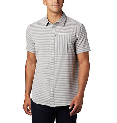 Men's Twisted Creek™ II Short Sleeve Shirt – Tall Twisted Creek™ II Short Sleeve Shirt | 362 | 2XT, Black Stripe, front