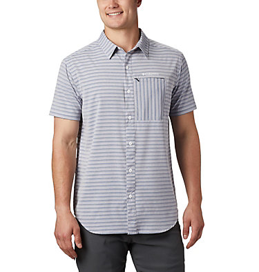 Men's Twisted Creek™ II Short Sleeve Shirt – Tall Twisted Creek™ II Short Sleeve Shirt | 362 | 2XT, Collegiate Navy Stripe, front