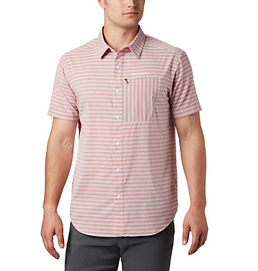 Men's Twisted Creek™ II Short Sleeve Shirt – Tall Twisted Creek™ II Short Sleeve Shirt | 362 | 2XT, Red Jasper Stripe, front