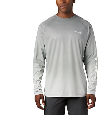 Men's PFG Terminal Deflector™ Printed Long Sleeve Shirt Terminal Deflector™ Printed LS | 019 | L, Black Gradient, front
