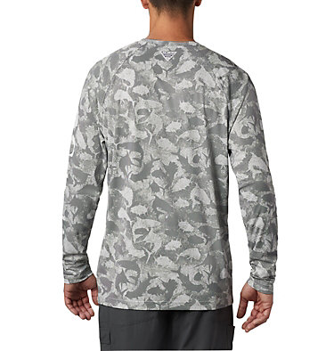 Men's PFG Terminal Deflector™ Printed Long Sleeve Shirt Terminal Deflector™ Printed LS | 019 | L, Cool Grey Inside Out Camo, back