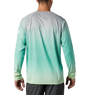 Men's PFG Terminal Deflector™ Printed Long Sleeve Shirt Terminal Deflector™ Printed LS | 019 | L, Dark Lime Gradient, back