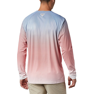 Men's PFG Terminal Deflector™ Printed Long Sleeve Shirt Terminal Deflector™ Printed LS | 019 | L, Vivid Blue Gradient, back