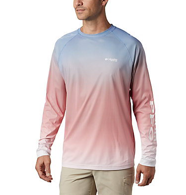 Men's PFG Terminal Deflector™ Printed Long Sleeve Shirt Terminal Deflector™ Printed LS | 019 | L, Vivid Blue Gradient, front
