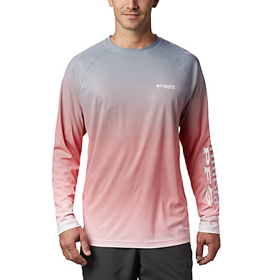 Men's PFG Terminal Deflector™ Printed Long Sleeve Shirt Terminal Deflector™ Printed LS | 019 | L, Red Spark Gradient, front