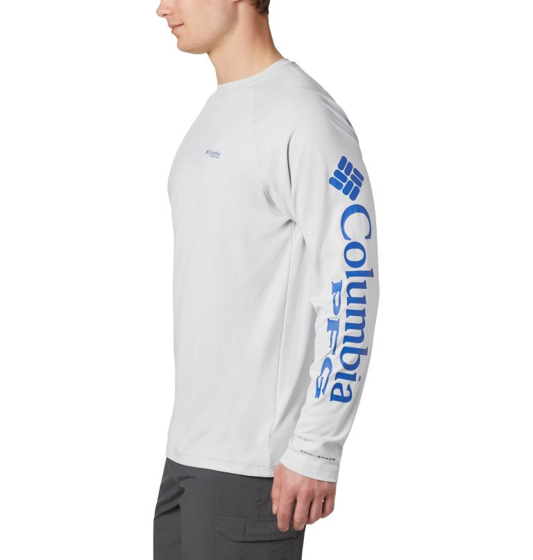 Terminal Deflector™ LS | 019 | 4XT Men's PFG Terminal Deflector™ Long Sleeve Shirt - Tall, Cool Grey, Vivid Blue, a1