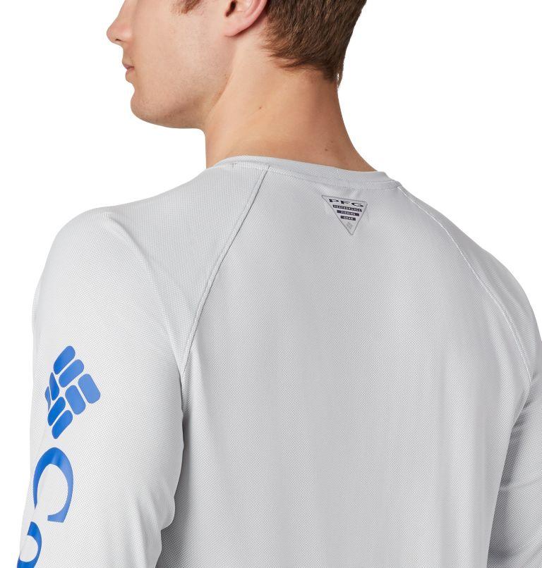 Terminal Deflector™ LS | 019 | 4XT Men's PFG Terminal Deflector™ Long Sleeve Shirt - Tall, Cool Grey, Vivid Blue, a3