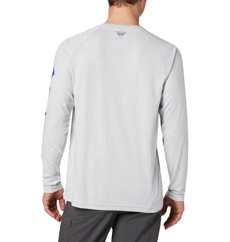 Terminal Deflector™ LS | 019 | 4XT Men's PFG Terminal Deflector™ Long Sleeve Shirt - Tall, Cool Grey, Vivid Blue, back