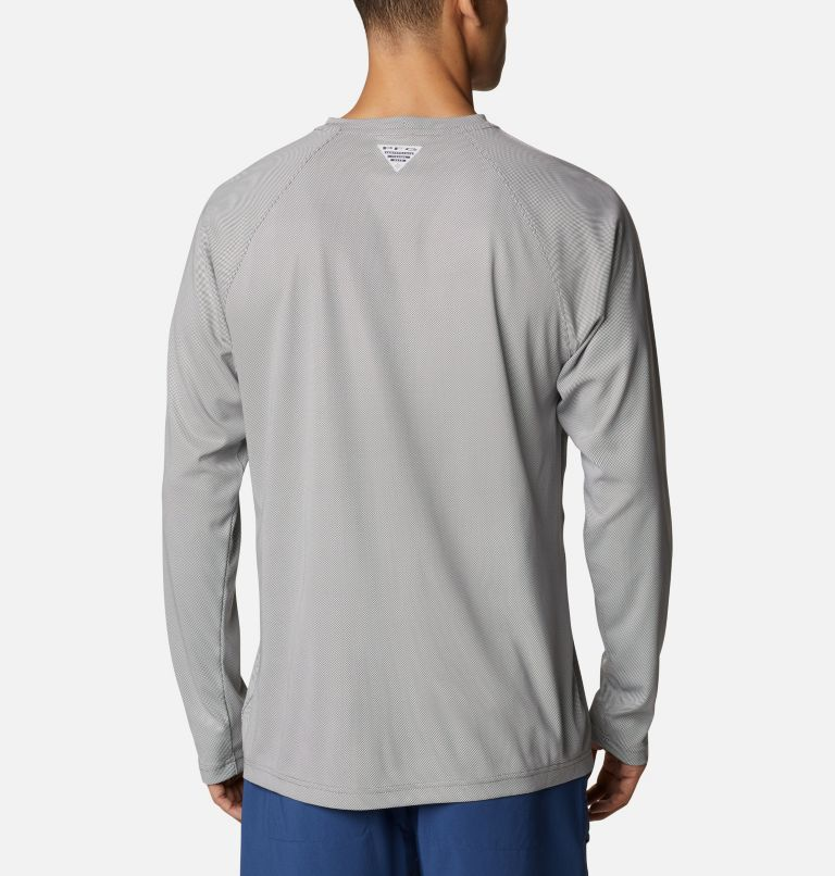 Terminal Deflector™ LS | 024 | 4XT Men's PFG Terminal Deflector™ Long Sleeve Shirt - Tall, City Grey, White, back