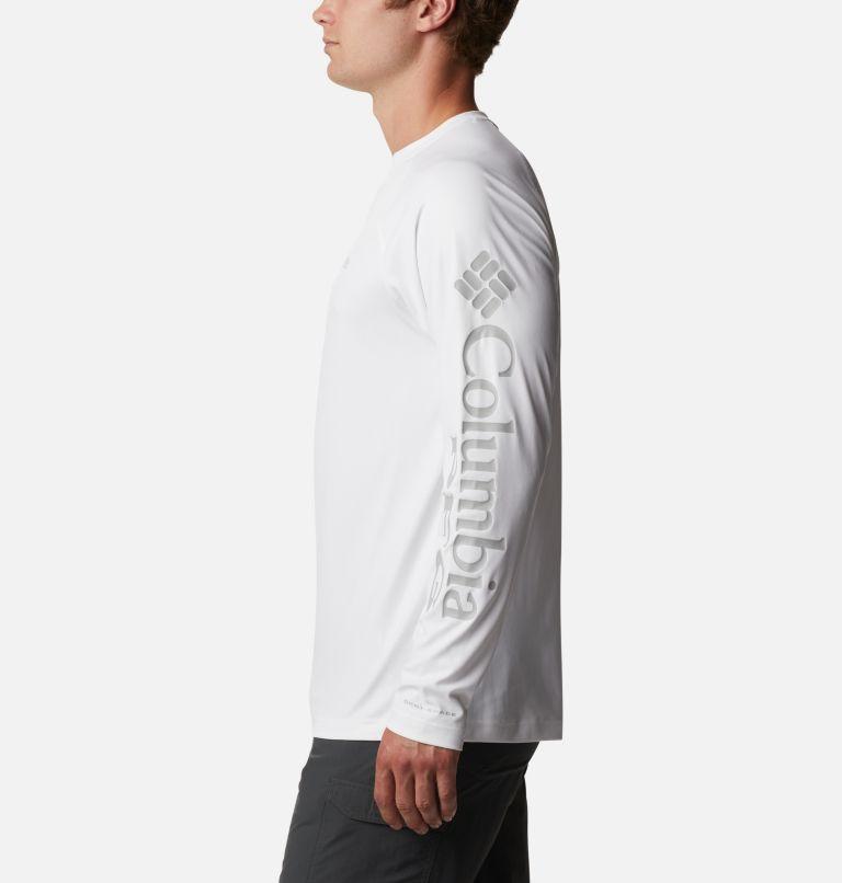 Terminal Deflector™ LS | 100 | LT Men's PFG Terminal Deflector™ Long Sleeve Shirt - Tall, White, Cool Grey, a1