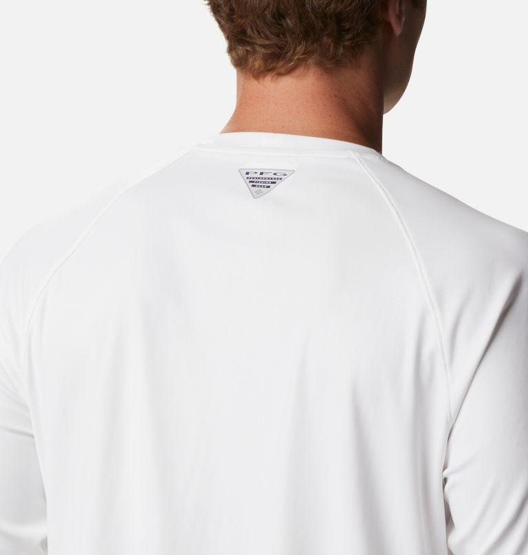 Terminal Deflector™ LS | 100 | LT Men's PFG Terminal Deflector™ Long Sleeve Shirt - Tall, White, Cool Grey, a3