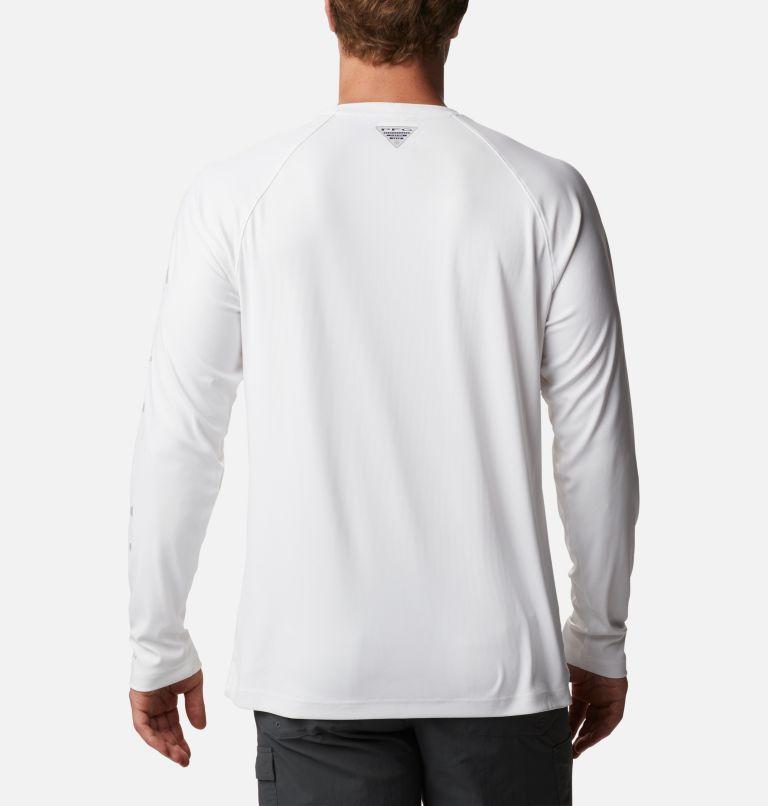 Terminal Deflector™ LS | 100 | LT Men's PFG Terminal Deflector™ Long Sleeve Shirt - Tall, White, Cool Grey, back
