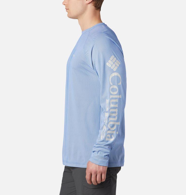 Terminal Deflector™ LS | 487 | 4XT Men's PFG Terminal Deflector™ Long Sleeve Shirt - Tall, Vivid Blue, Cool Grey, a1
