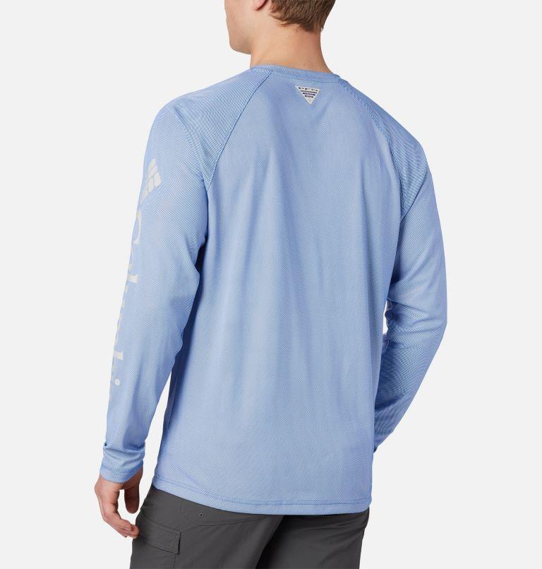 Terminal Deflector™ LS | 487 | 4XT Men's PFG Terminal Deflector™ Long Sleeve Shirt - Tall, Vivid Blue, Cool Grey, back