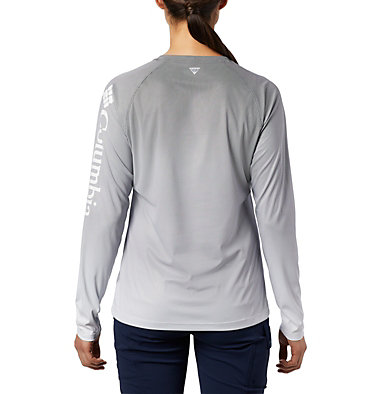 Women's PFG Tidal Deflector™ Long Sleeve Shirt Tidal Deflector™ Long Sleeve | 808 | L, Black Fade, back