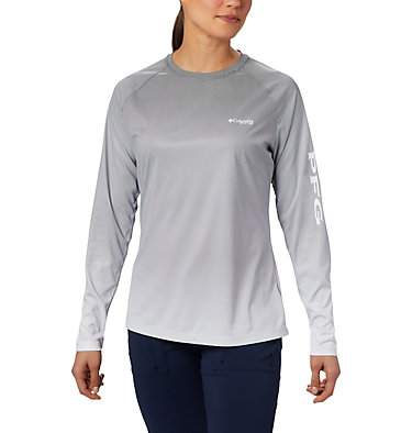 Women's PFG Tidal Deflector™ Long Sleeve Shirt Tidal Deflector™ Long Sleeve | 465 | M, Black Fade, front