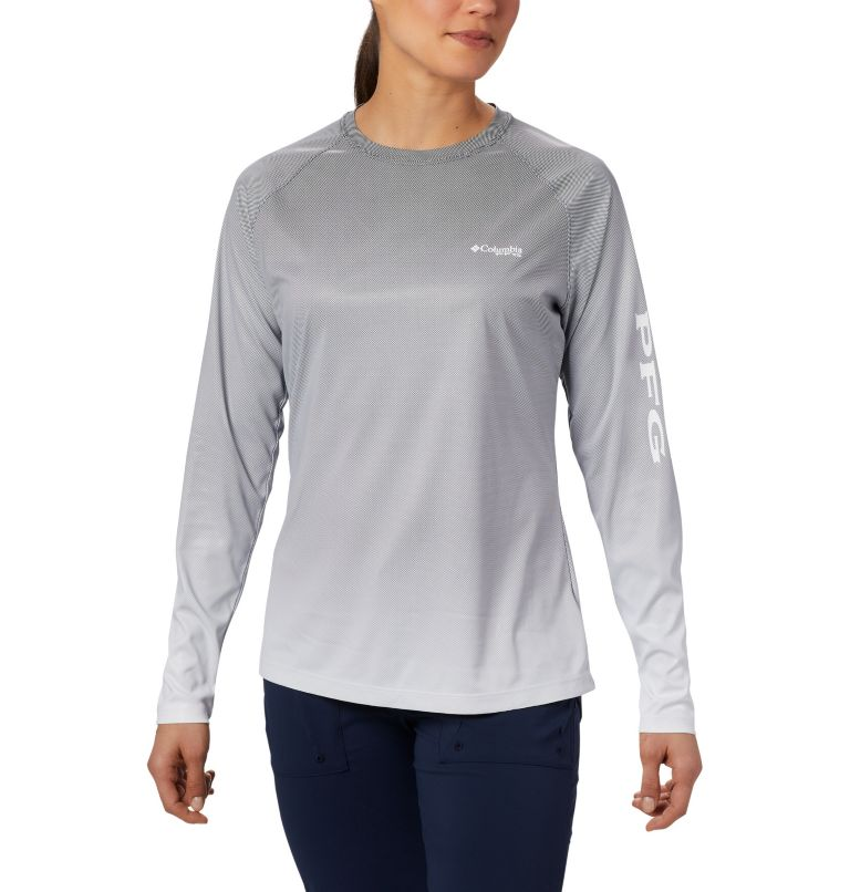 Tidal Deflector™ Long Sleeve | 010 | M Women's PFG Tidal Deflector™ Long Sleeve Shirt, Black Fade, front