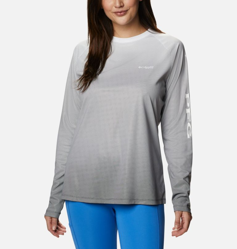 Tidal Deflector™ Long Sleeve | 011 | L Women's PFG Tidal Deflector™ Long Sleeve Shirt, Black Gradient, front