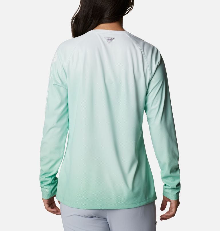 Tidal Deflector™ Long Sleeve | 322 | L Women's PFG Tidal Deflector™ Long Sleeve Shirt, Kelp Gradient, back