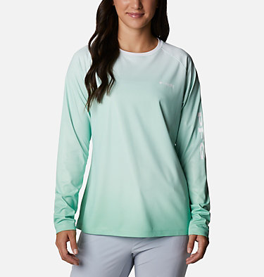 Women's PFG Tidal Deflector™ Long Sleeve Shirt Tidal Deflector™ Long Sleeve | 465 | M, Kelp Gradient, front