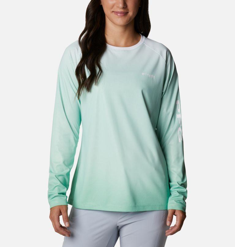 Tidal Deflector™ Long Sleeve | 322 | XS Women's PFG Tidal Deflector™ Long Sleeve Shirt, Kelp Gradient, front