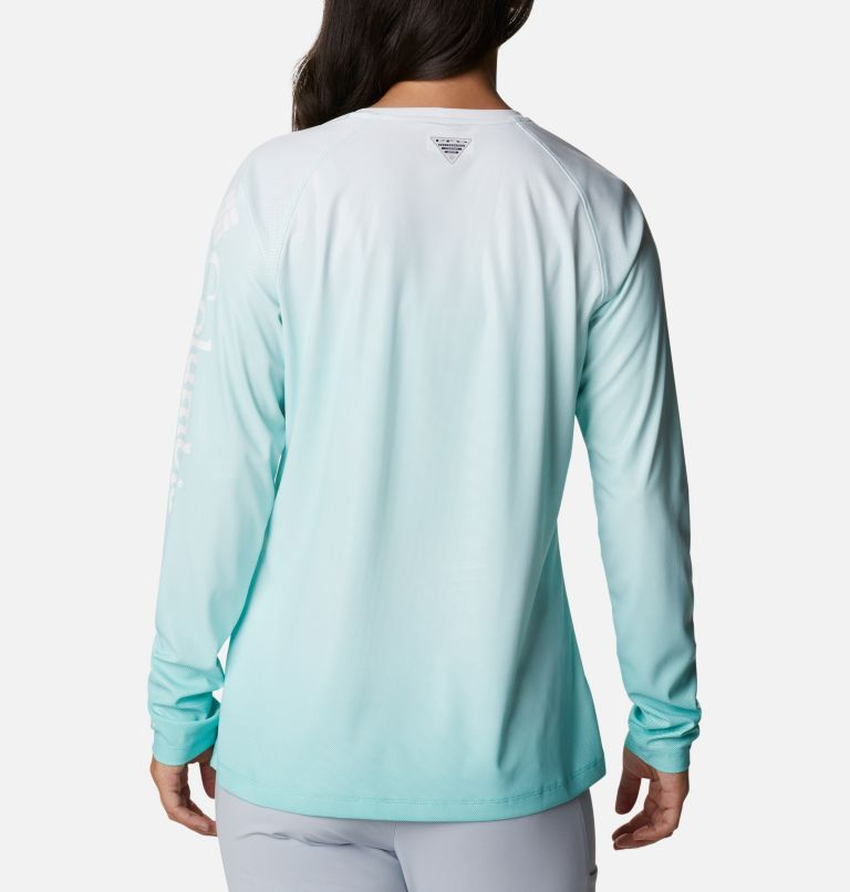 Tidal Deflector™ Long Sleeve | 357 | S Women's PFG Tidal Deflector™ Long Sleeve Shirt, Dolphin Gradient, back