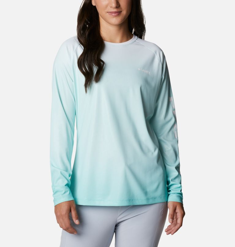 Tidal Deflector™ Long Sleeve | 357 | S Women's PFG Tidal Deflector™ Long Sleeve Shirt, Dolphin Gradient, front