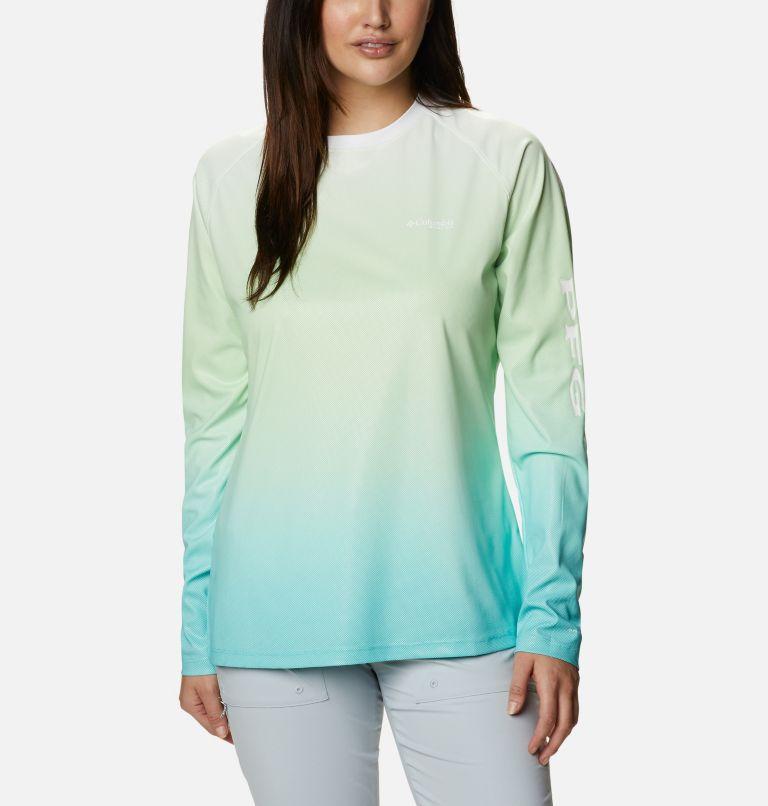 Tidal Deflector™ Long Sleeve   398   M Women's PFG Tidal Deflector™ Long Sleeve Shirt, Lime Glow Gradient, front