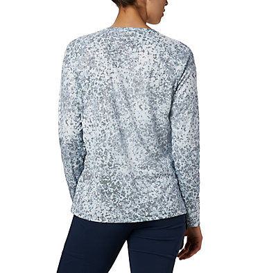 Women's PFG Tidal Deflector™ Long Sleeve Shirt Tidal Deflector™ Long Sleeve | 808 | L, Collegiate Navy Bubbles Print, back