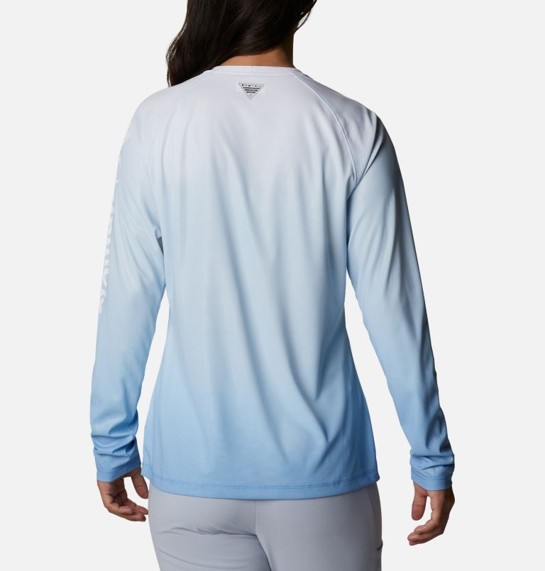 Tidal Deflector™ Long Sleeve | 465 | M Women's PFG Tidal Deflector™ Long Sleeve Shirt, Azure Blue Gradient, back