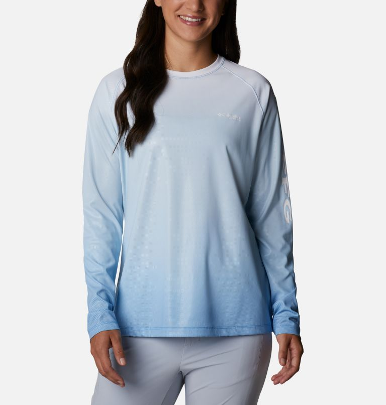 Tidal Deflector™ Long Sleeve | 465 | XXL Women's PFG Tidal Deflector™ Long Sleeve Shirt, Azure Blue Gradient, front