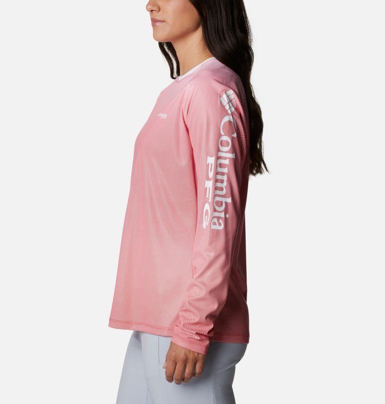 Tidal Deflector™ Long Sleeve | 659 | M Women's PFG Tidal Deflector™ Long Sleeve Shirt, Red Lily Gradient, a1