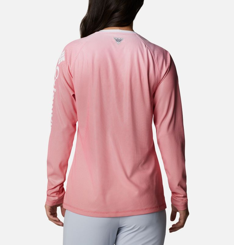Tidal Deflector™ Long Sleeve | 659 | M Women's PFG Tidal Deflector™ Long Sleeve Shirt, Red Lily Gradient, back