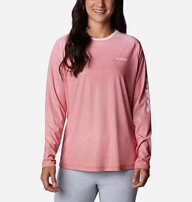 Women's PFG Tidal Deflector™ Long Sleeve Shirt Tidal Deflector™ Long Sleeve | 465 | M, Red Lily Gradient, front
