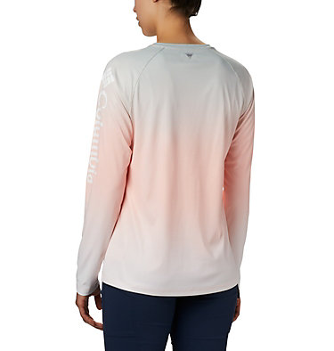 Women's PFG Tidal Deflector™ Long Sleeve Shirt Tidal Deflector™ Long Sleeve | 465 | M, Tiki Pink Gradient, back
