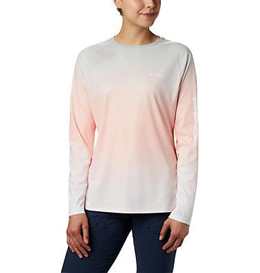 Women's PFG Tidal Deflector™ Long Sleeve Shirt Tidal Deflector™ Long Sleeve | 465 | M, Tiki Pink Gradient, front
