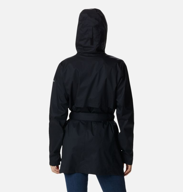 Pardon My Trench™ Rain Jacket | 010 | XL Women's Pardon My Trench™ Rain Jacket, Black, back