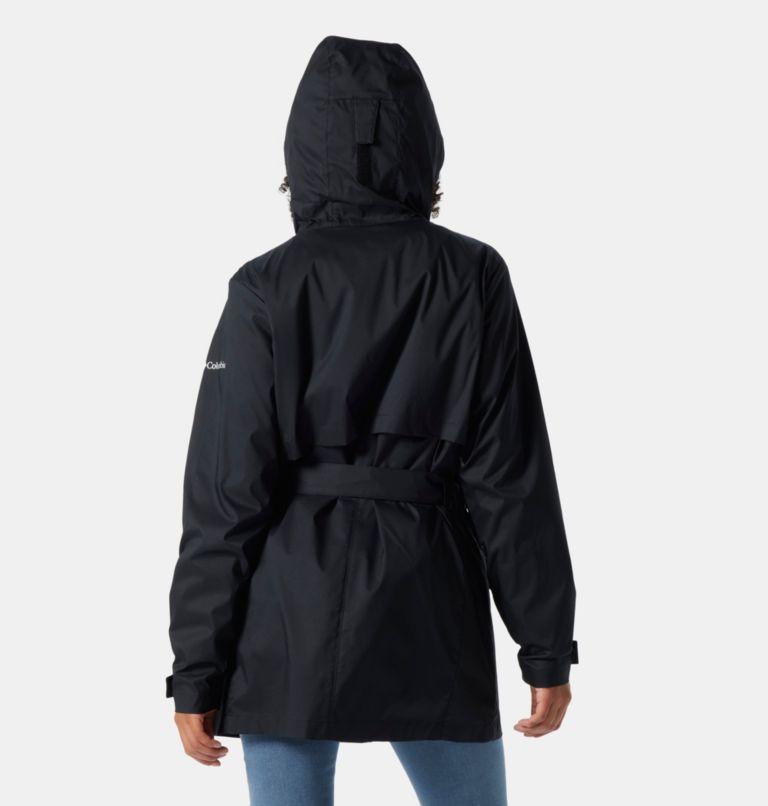 Pardon My Trench™ Rain Jacket | 010 | M Women's Pardon My Trench™ Rain Jacket, Black, back