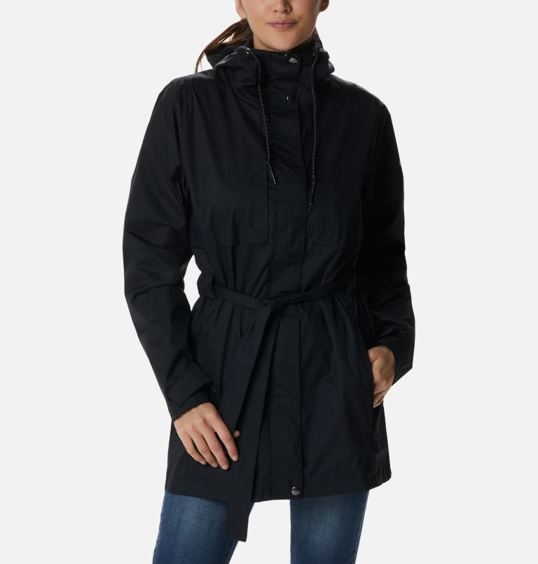 Pardon My Trench™ Rain Jacket | 010 | XL Women's Pardon My Trench™ Rain Jacket, Black, front