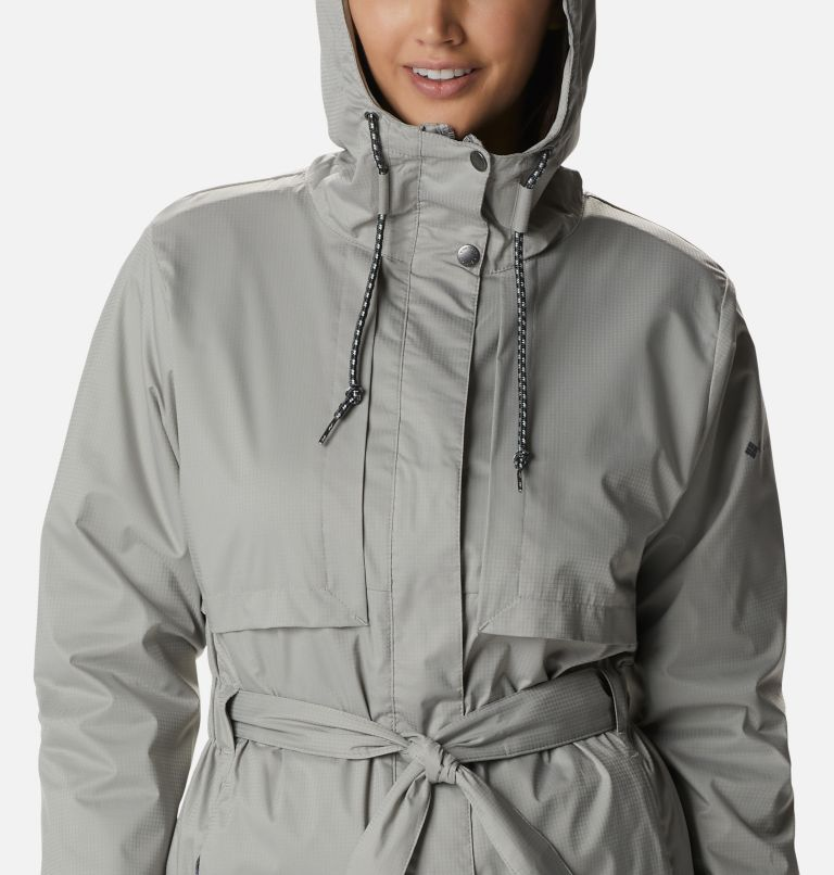Pardon My Trench™ Rain Jacket   027   XL Women's Pardon My Trench™ Rain Jacket, Flint Grey, a2