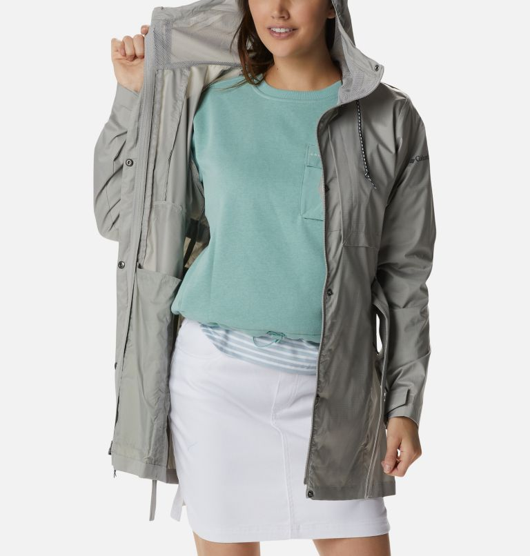 Pardon My Trench™ Rain Jacket | 027 | L Women's Pardon My Trench™ Rain Jacket, Flint Grey, a3