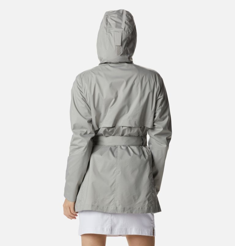 Pardon My Trench™ Rain Jacket   027   XL Women's Pardon My Trench™ Rain Jacket, Flint Grey, back