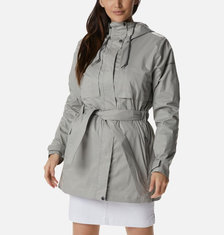 Pardon My Trench™ Rain Jacket | 027 | L Women's Pardon My Trench™ Rain Jacket, Flint Grey, front