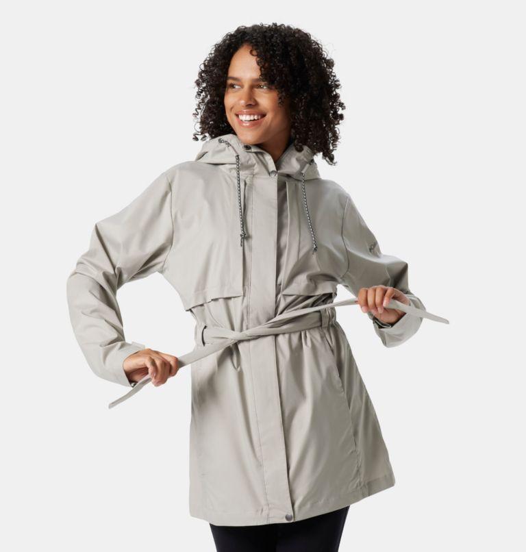 Pardon My Trench™ Rain Jacket   027   XL Women's Pardon My Trench™ Rain Jacket, Flint Grey, front