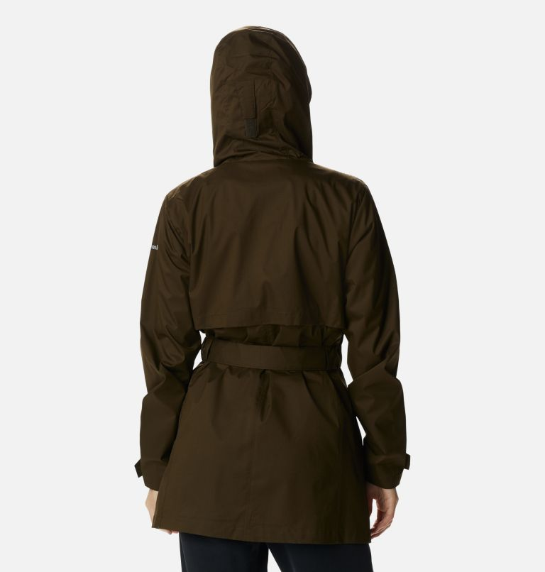 Pardon My Trench™ Rain Jacket   319   M Women's Pardon My Trench™ Rain Jacket, Olive Green, back