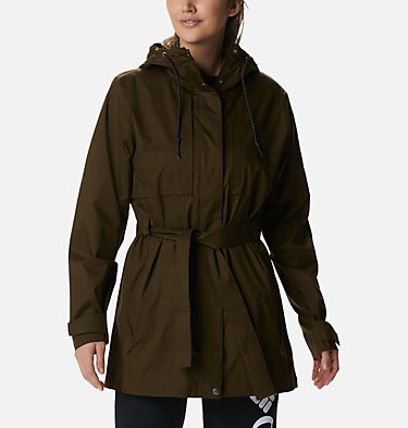 Women's Pardon My Trench™ Rain Jacket Pardon My Trench™ Rain Jacket | 458 | XS, Olive Green, front
